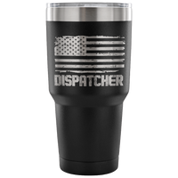 Dispatcher Tumbler Tumblers teelaunch 30 Ounce Vacuum Tumbler - Black