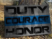 Duty Courage Honor Canvas Decor ViralStyle