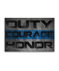 Duty Courage Honor Canvas Decor ViralStyle Premium OS Canvas - Landscape 24x16*