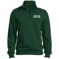 Embroidered Corrections 1/4 Zip PErformance Pullover Sweatshirts CustomCat Forest X-Small