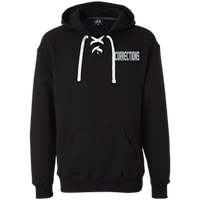 Embroidered Corrections Heavyweight Pullover Hoodie Sweatshirts CustomCat Black X-Small
