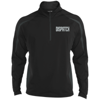 Embroidered Dispatch 1/2 Zip Performance Pullover Jackets CustomCat Black/Charcoal Grey X-Small