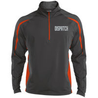 Embroidered Dispatch 1/2 Zip Performance Pullover Jackets CustomCat Charcoal Grey/Deep Orange X-Small