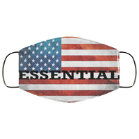 Essential American Flag Face Cover Accessories White One Size