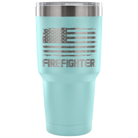 Firefighter Tumbler Tumblers teelaunch 30 Ounce Vacuum Tumbler - Light Blue