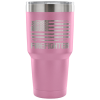 Firefighter Tumbler Tumblers teelaunch 30 Ounce Vacuum Tumbler - Light Purple
