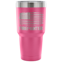 Firefighter Tumbler Tumblers teelaunch 30 Ounce Vacuum Tumbler - Pink