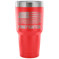 Firefighter Tumbler Tumblers teelaunch 30 Ounce Vacuum Tumbler - Red