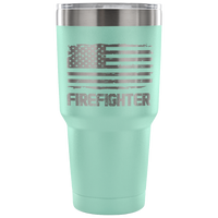 Firefighter Tumbler Tumblers teelaunch 30 Ounce Vacuum Tumbler - Teal