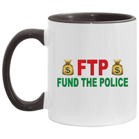Fund The Police Accent Mug Drinkware White/Black One Size