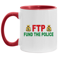 Fund The Police Accent Mug Drinkware White/Red One Size