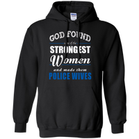 God Found Police Wives Hoodie Sweatshirts CustomCat Black Small