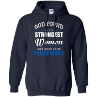 God Found Police Wives Hoodie Sweatshirts CustomCat Navy Small