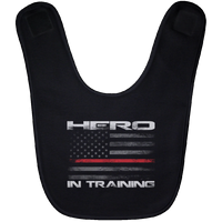 Hero In Training Thin Red Line Baby Bib Accessories Black One Size
