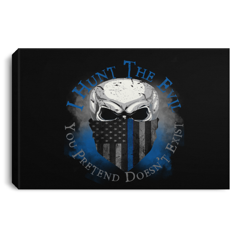 products/i-hunt-the-evil-thin-blue-line-canvas-housewares-black-18-x-12-447559.png