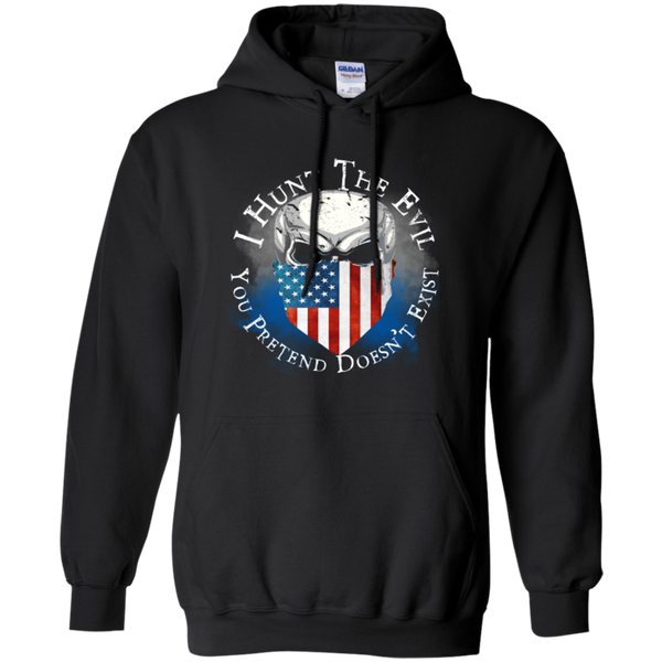 I Hunt The Evil USA Hoodie Sweatshirts CustomCat Black Small