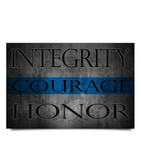 Integrity Honor Courage Poster Decor ViralStyle Paper 24x16