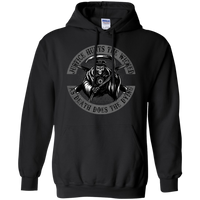 Justice Hunts the Wicked As Death Does The Dying Hoodie Sweatshirts CustomCat Black S