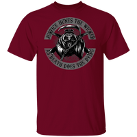 Justice Hunts The Wicked Shirt T-Shirts Garnet S
