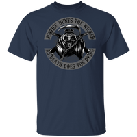 Justice Hunts The Wicked Shirt T-Shirts Navy S