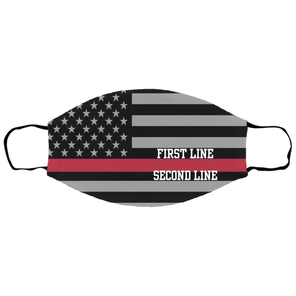 Kids Personalized Thin Red Line Face Cover Accessories White One Size