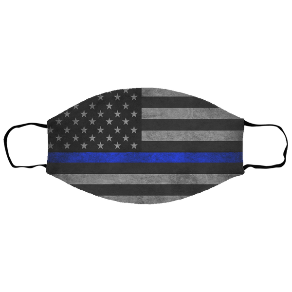 Kids Tattered Thin Blue Line Face Cover Accessories White One Size