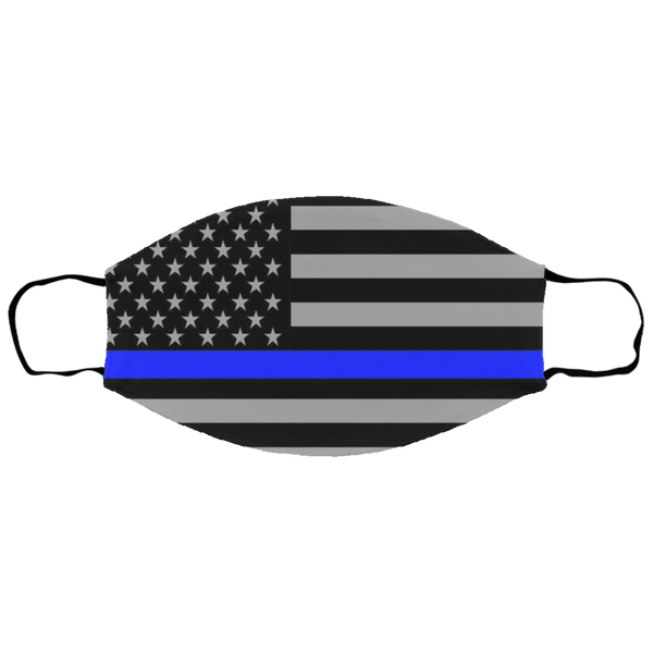 Kids Thin Blue Line Face Cover Accessories White One Size