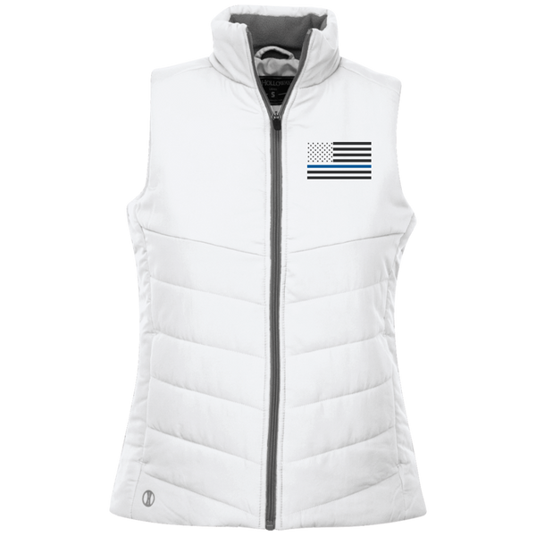 Ladies Thin Blue Line Jacket Jackets CustomCat White X-Small