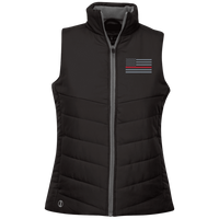 Ladies's Thin Red Line Vest Jackets Black X-Small