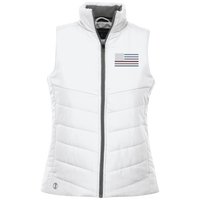 Ladies's Thin Red Line Vest Jackets White X-Small