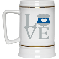 LEO Love Beer Stein Drinkware White One Size