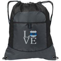 LEO Love Embroidered Cinch Pack Bags Deep Smoke/Black One Size