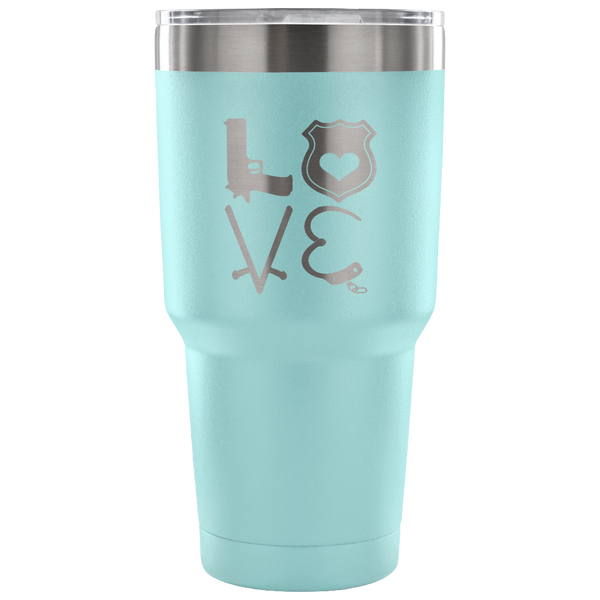 LEO Love Tumbler Tumblers teelaunch 30 Ounce Vacuum Tumbler - Light Blue