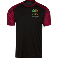 Men's Double Sided Irish by Blood Firefighter Athletic Shirt T-Shirts Black/Deep Red X-Small