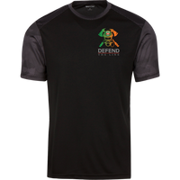 Men's Double Sided Irish by Blood Firefighter Athletic Shirt T-Shirts Black/Iron Grey X-Small