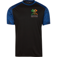Men's Double Sided Irish by Blood Firefighter Athletic Shirt T-Shirts Black/True Royal X-Small