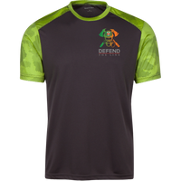 Men's Double Sided Irish by Blood Firefighter Athletic Shirt T-Shirts Iron Grey/Lime Shock X-Small