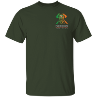 Men's Double Sided Irish by Blood Firefighter T-Shirt T-Shirts Forest S