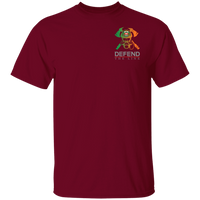 Men's Double Sided Irish by Blood Firefighter T-Shirt T-Shirts Garnet S