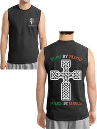 Men's Double Sided Irish by Blood Punisher Sleeveless T-Shirt T-Shirts