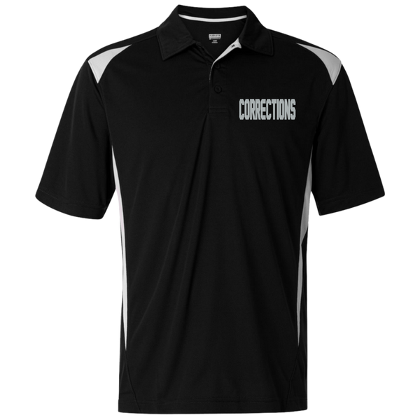 Men's Embroidered Corrections Premier Sport Shirt Polo Shirts Black/White S