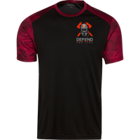 Proto ST371 Sport-Tek CamoHex Colorblock T-Shirt T-Shirts CustomCat Black/Deep Red X-Small