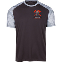 Proto ST371 Sport-Tek CamoHex Colorblock T-Shirt T-Shirts CustomCat Iron Grey/White X-Small