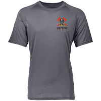 Proto 2790 Augusta Raglan Sleeve Wicking Shirt - need to combine with gray T-Shirts CustomCat Graphite S