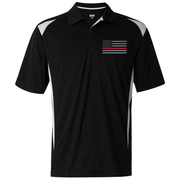 Men's Thin Red Line Embroidered Premier Sport Shirt Polo Shirts Black/White S