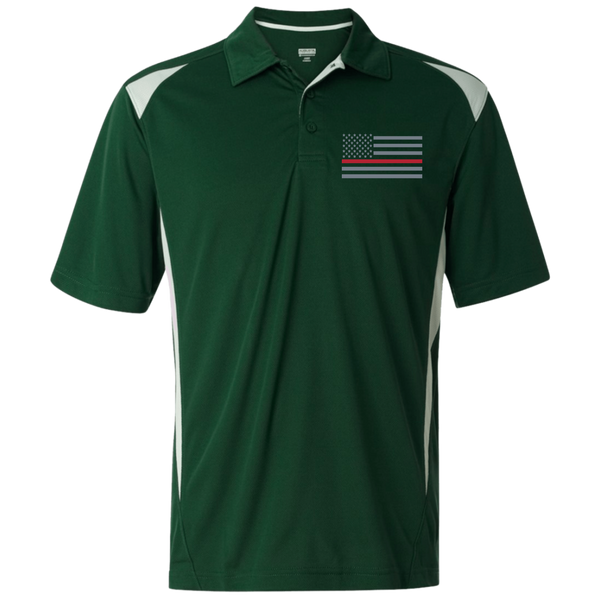 Men's Thin Red Line Embroidered Premier Sport Shirt Polo Shirts Dark Green/White S