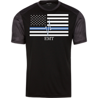 Men's Thin White Line EMT Athletic Shirt T-Shirts Black/Iron Grey X-Small