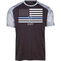 Men's Thin White Line EMT Athletic Shirt T-Shirts Iron Grey/White X-Small