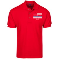 Men's Thin White Line EMT Embroidered Cotton Knit Polo Polo Shirts Red X-Small