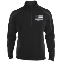 Men's Thin White Line EMT Embroidered Performance Pullover Jackets Black/Charcoal Grey X-Small
